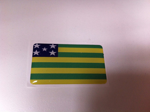 Adesivo Resinado Da Bandeira De Goiás 5 Cm Por 3 Cm Original