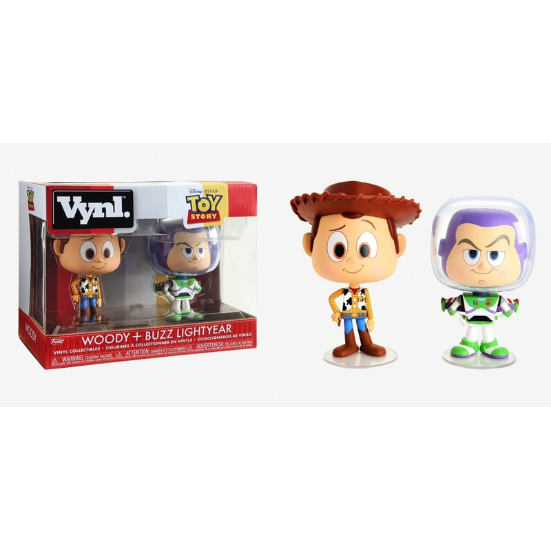 Woody + Buzz Lightyear Vynl Figures Funko - Toy Story Disney