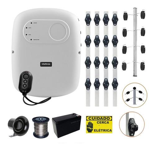 Kit Cerca Elétrica Industrial Intelbras 90 Metros C/ Alarme Original