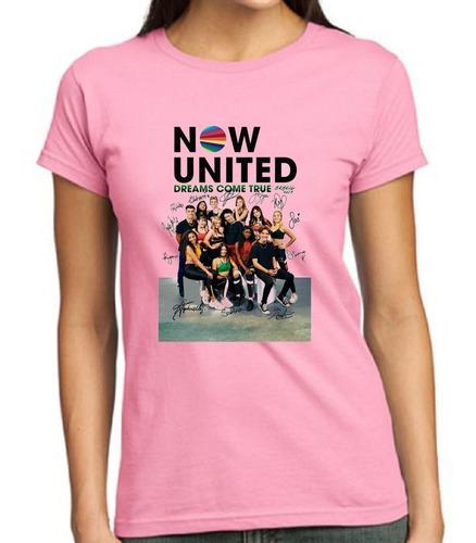 Camisa Blusa Now United Infantil Banda Autografo Sabina Any Original