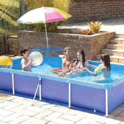 Piscina retangular 3000 litros infantil mor r 369 00 em for Piscina 3000 litros