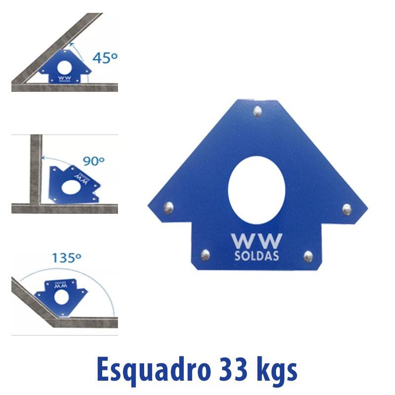 KIT ESQUADRO MAGNETICO PARA SOLDA 04 PEÇAS DE 33KG WWSOLDAS