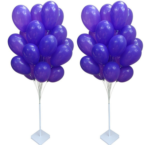 2 Suportes De Balão Para Chão 40 Varetas Balões Base Bexigas Original