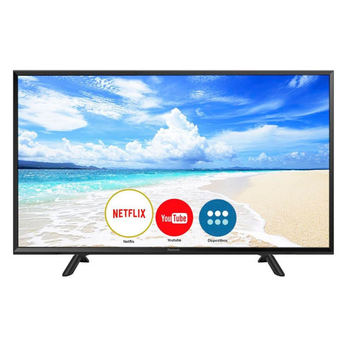 Smart Tv Led 40 Polegadas Panasonic Tc-40fs600b Full Hd 2 Hd