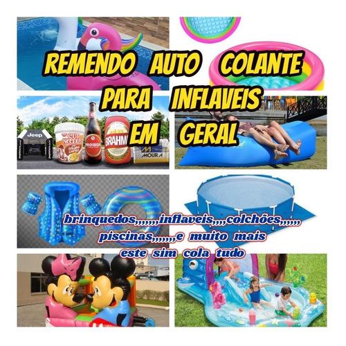 Piscina Reparo Auto Colante P/brinquedos Inflaveis Botes Etc Original