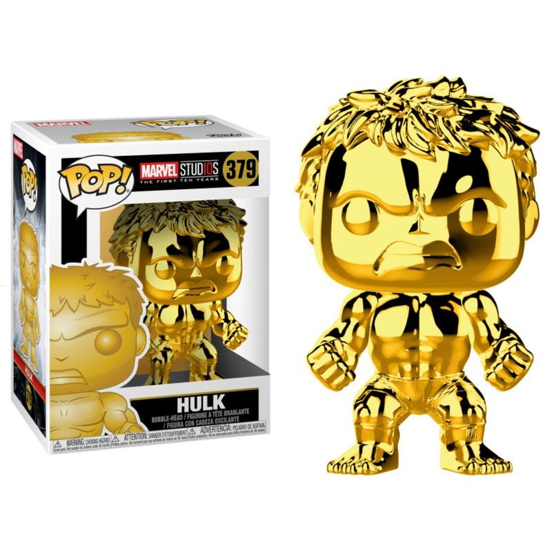 Hulk Gold Chrome Pop Funko #379 - Marvel 10 Years Edition