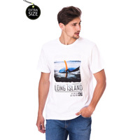 Camiseta Long Island Plus Size Branca