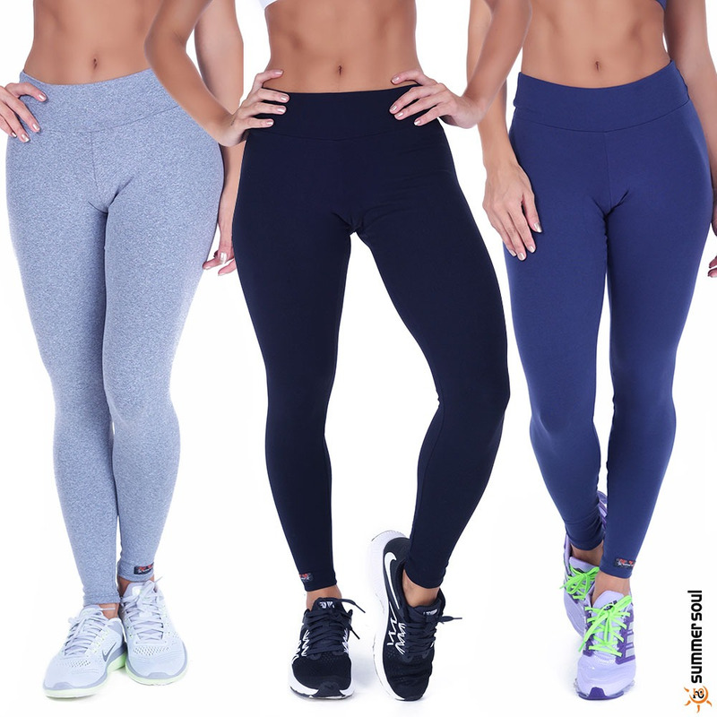 Kit 3 Calças Legging Fitness Summer Soul