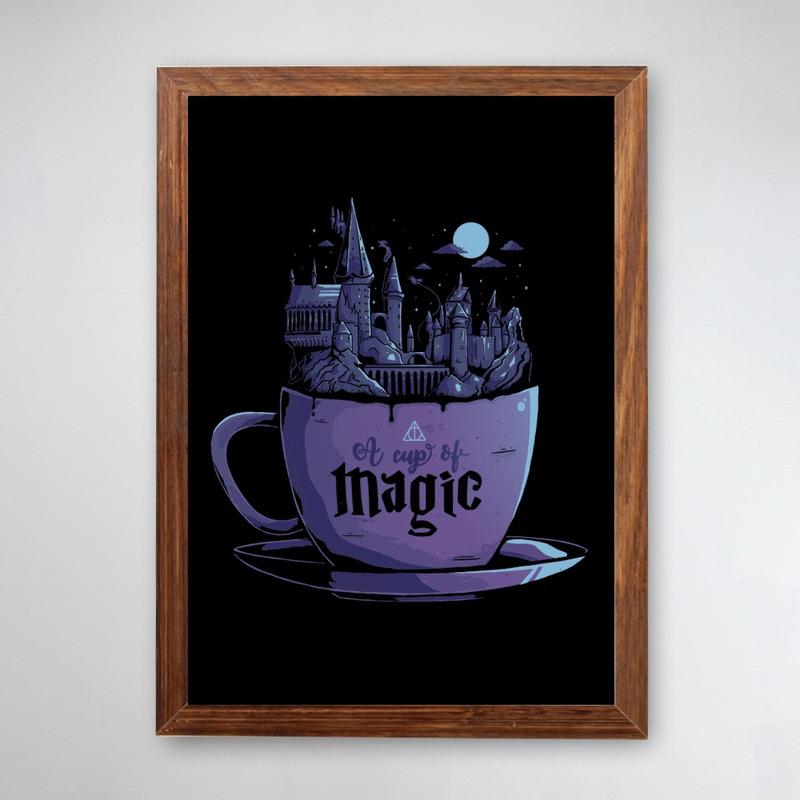 PÔSTER COM MOLDURA - CUP OF MAGIC