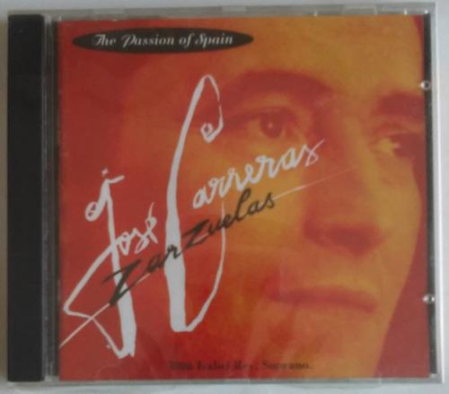 Cd José Carreras Zarzuelas The Passion Of Spain Importado Original
