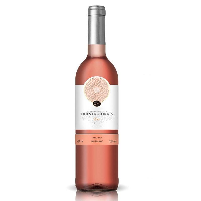 Vinho Rosé Suave 720ml - Quinta Moraes