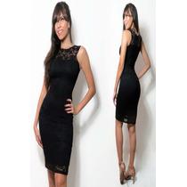 890e30459163 Comprar Vestido Feminino Renda Festa Decote Justo Midi Clássico Vr73