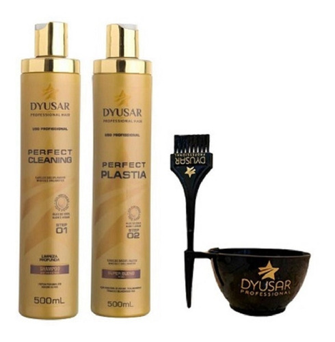 Kit Escova Progressiva Perfect Plastia Dyusar 500 Ml +brinde Original