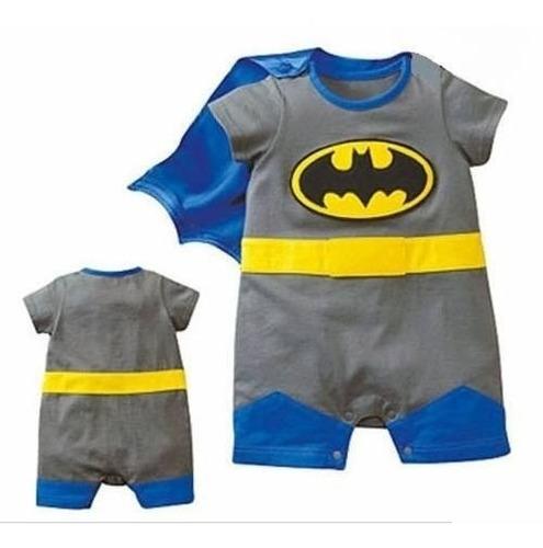 Superman Batman Fantasia Carnaval Macacão Bebê P Entrega Original