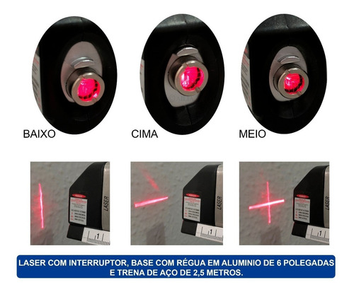 Nível Laser Profissional Trena Level Pro3 Estágios Nivelador Original