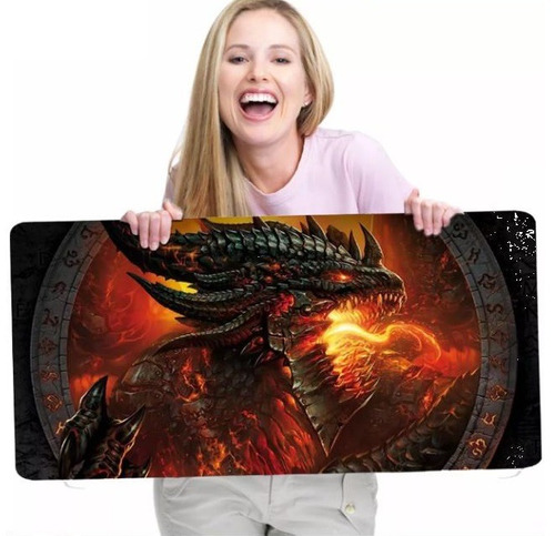 Mouse Pad Gamer Extra Grande 70x30x3mm Barato Jogos On Line
