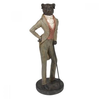Escultura de cachorro c bengala decorativa em ceramica for Escultura decorativa