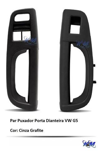 Par Moldura Puxador De Porta Gol Voyage Saveiro G5 - Grafite Original