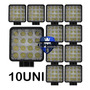 Kit 10 Farol Milha 16 Led 48w 12v/24v Quadrad Off road 6000k