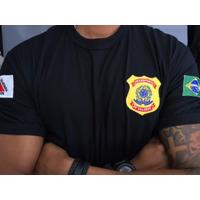 Camisa Preta Transporte de Valores -  Preta  Bordada