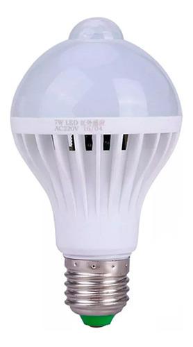 Lampada Bulbo Led C/sensor De Presenca 9w Branco Frio Top Original