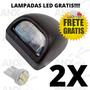 Par Lanterna Placa Gm S10 2013 2014 2015 C/ Soquete E Led