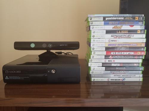 Xbox 360 + Kinect + Joystick Com Fio+ 17 Jogos Originais Original