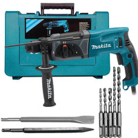 Martelete Combinado 24mm SDS PLUS + BRINDES - HR2470-L - Makita - 110 Volts