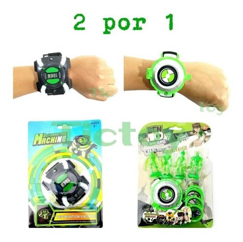 2 Relógios Ben 10 Ominitrix / Lançador Disco / Luz E Som Original