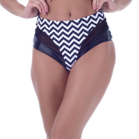 Calcinha Summer Soul Hot Pants Zig Zag Preto
