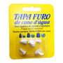 Tapa Furo Cano D' Água Cano Furado Rosca Chave 5 Und