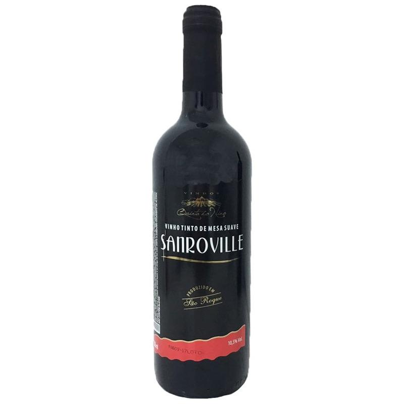 Vinho Sanroville Tinto Suave Izabel/Bordô 750ml - Quinta do Nino