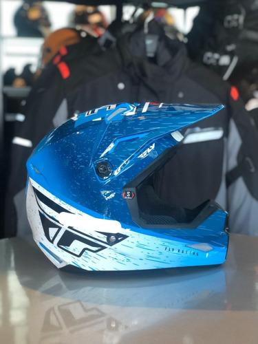 Capacete Infantil Fly Kinetic K120 Azul Motocross Lançamento Original