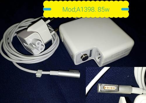 Fonte Carregador Para Notebook Apple Macbook Pro A1398 85w.