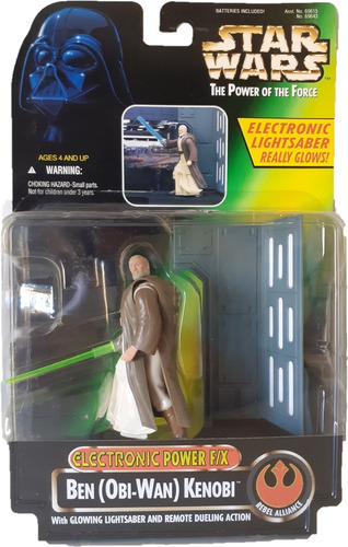 Star Wars Ben Obi Wan Kenobi Potf Power Of The Force Fx 1/18 Original
