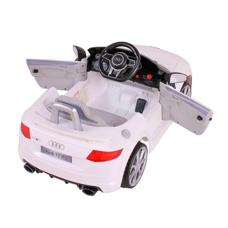 Kit Carro Elétrico Audi TT RS - Bel Brink + Colete Boia Inflável Infantil Amarelo- 1822- Mor<BR><BR>