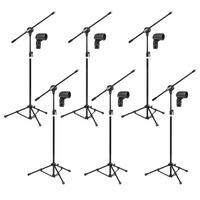 06 Pedestais Para Microfone Modelo Arcano Ar001