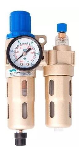 Filtro De Ar Regulador Lubrificador 1/4 Fluir P/ Compressor Original
