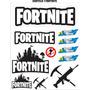 Cartela Adesivos Jogos Play, Fortnite