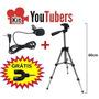 Kit Youtubersttripé Microfone Adaptador P 3 Gravar