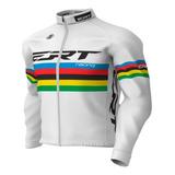 Casaco Ciclismo Mtb Térmico Ert Campeão Mundial Branco