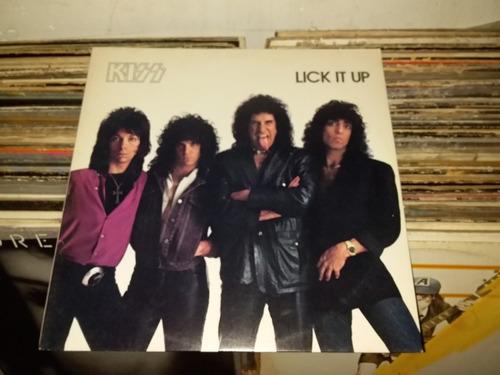 Lp Kiss Lick It Up  - Com Encarte /vinil Excelente