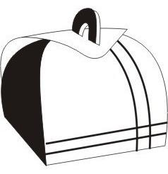 Embalagem Caixa Caixinhas Bem Casado Branco E Preto 100 Pçs Original