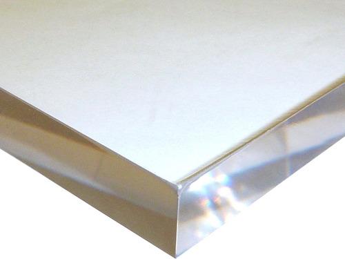 15x15cm 10mm Chapa Placa Acrílico Cristal Original