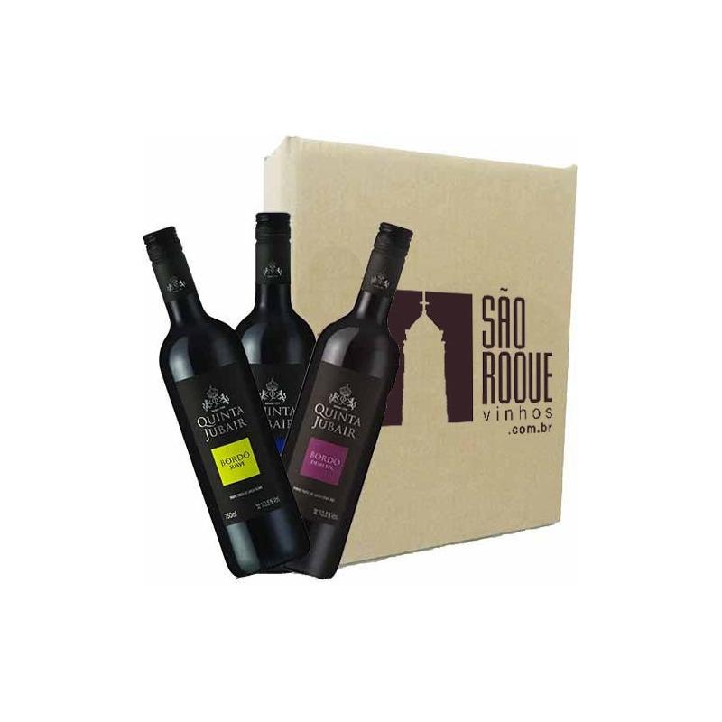 Kit Vinho Bordô Suave + Seco + Demi-sec - Quinta Jubair