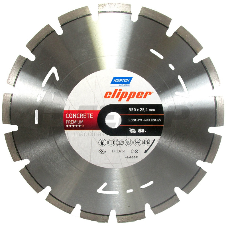 Disco Diamantado Norton Clipper Concrete Premium 350x25,4mm