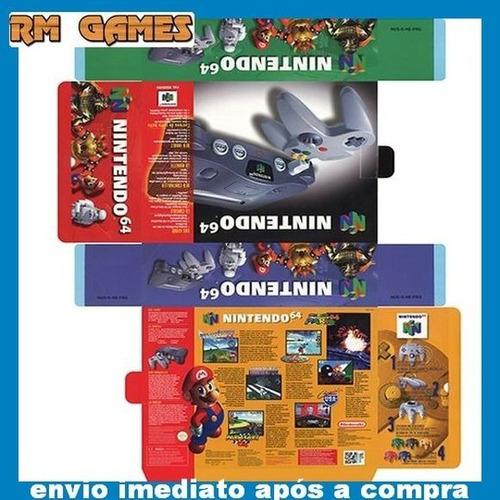 Artes Das Caixas Nintendo 64 Super Nintendo Master System 2 Original