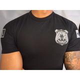 Camisa Escolta Armada - Preta  Bordada