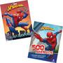 Kit 2 Livros Marvel Homem Aranha Origem 500 Adesivos Ativide