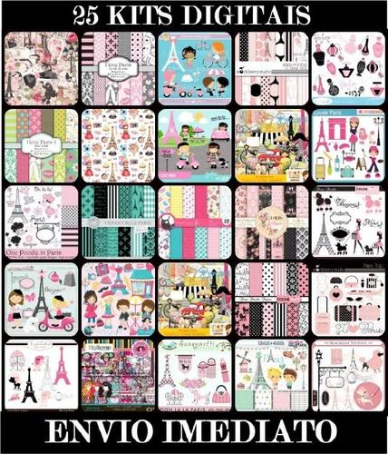 Kit Digital Paris - Imagens Em Alta Resolução Para Scrapbook Original
